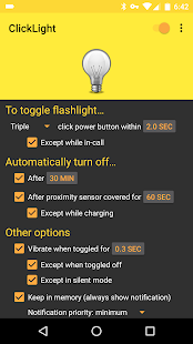 ClickLight Flashlight Screenshot