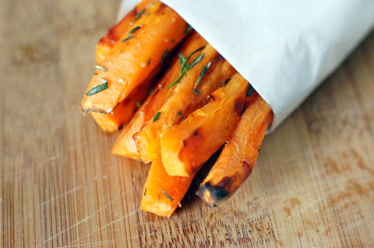 Oven Baked Sweet Potato Fries with Sea Salt and Rosemary Recipe ...