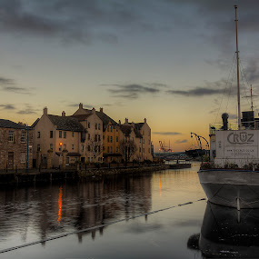 Sunrise on Leith by Mark Holm - City,  Street & Park  Historic Districts ( shore, leith, edinburgh, sunrise, historic )