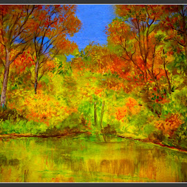 Fall is here... by Morris Kleyman - Painting All Painting ( time, seasons, colors, watercolors..., places, landscape )