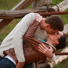 a kiss by Stefanie Hawkins - People Couples ( lean, love, kiss, girl, boy )