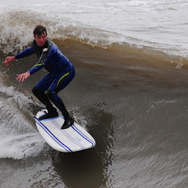 Surfer by Prentiss Findlay - Sports & Fitness Surfing ( surfing, surfer, waves, ocean, beach )