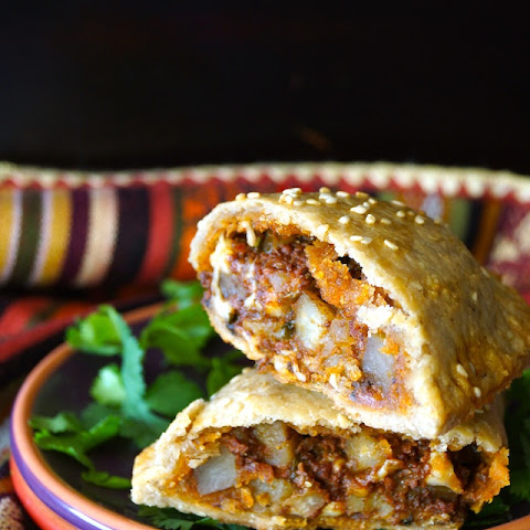 Chorizo-Potato Spiced Sesame Hand Pies