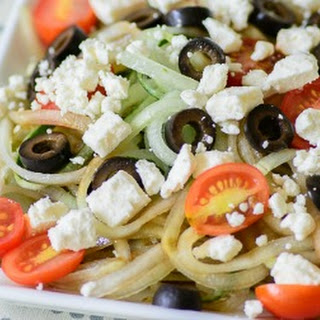 Cucumber Noodle Greek Salad
