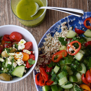 Chopped Greek Salad With Sweet Parsley Dressing