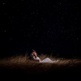 Stars by Lood Goosen (LWG Photo) - Wedding Bride & Groom ( love, kiss, wedding photography, weddings, wedding, night, bride and groom, wedding photographer, bride, groom, bride groom )