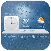 Download Analog Clock Widget & Weather APK on PC