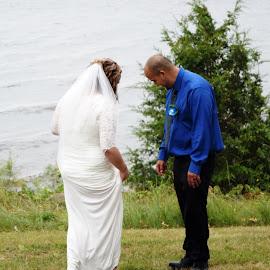 by Kasha Newsom - Wedding Bride & Groom ( wisconsin, bride and groom, beach wedding, wedding, summer )