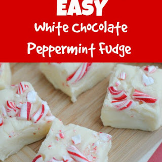 White Chocolate Peppermint Fudge ­