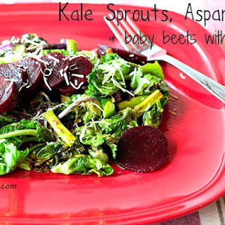 Kale Sprout, Asparagus & Baby Beet Salad ~ and a GIVEAWAY!