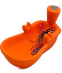 Подставка под канцтовары «Ванная» оранжевый