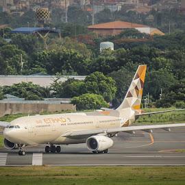 Etihad by Anton Labao - Transportation Airplanes