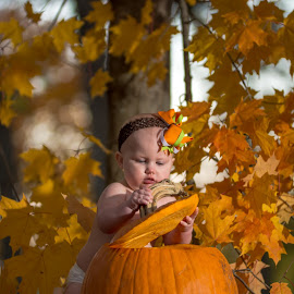 Open up by Bob White - Babies & Children Babies ( picoftheday, orange, color, pumpkin, fall, baby,  )