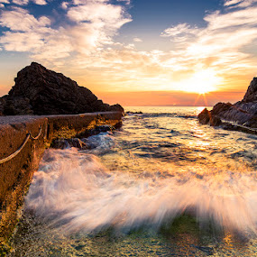 by Luca Rosacuta - Landscapes Waterscapes ( waterscape, sunset, sea, landscape, rocks )
