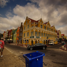 Downtown Curacao by Zach Boudreaux - City,  Street & Park  Neighborhoods ( clouds, color, street, beautiful, people, city )