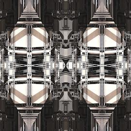 The Struggle Between Dark and Light by Ricky Jarnagin - Illustration Abstract & Patterns ( abstract, ricky jarnagin, patterns, mandelbulb, dsynegrafix, symmetry, kaleider, digital )