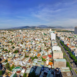 Danang city  by Phan Anh - City,  Street & Park  Skylines ( street, skylines, vietnam, motion city, danang, landscape, architec, panorama, city )