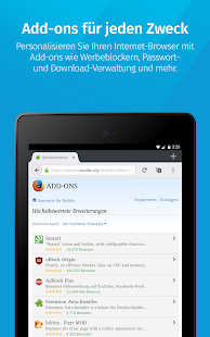 Firefox-Browser schnell/privat Screenshot