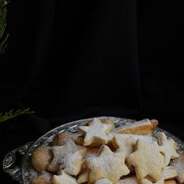 Lemon stars by Alina Vicu - Novices Only Objects & Still Life ( vegan, christmas, flavors, baking, cookies, lemon )