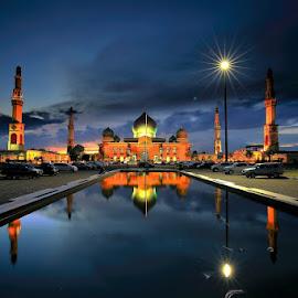 an nur mosque pekanbaru by Suryadi Sulthan - Buildings & Architecture Places of Worship ( an nur, masjid, riau, mosque, pekanbaru )