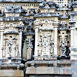 Temple architecture by Suresh K Srivastava - Buildings & Architecture Statues & Monuments ( temple, historical, architecture, medieval, travel photography, hinduism, religious )