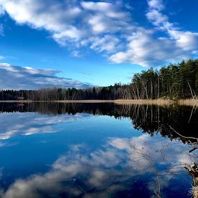 Mirror by Alf Winnaess - Uncategorized All Uncategorized ( #landscape#blue,  )