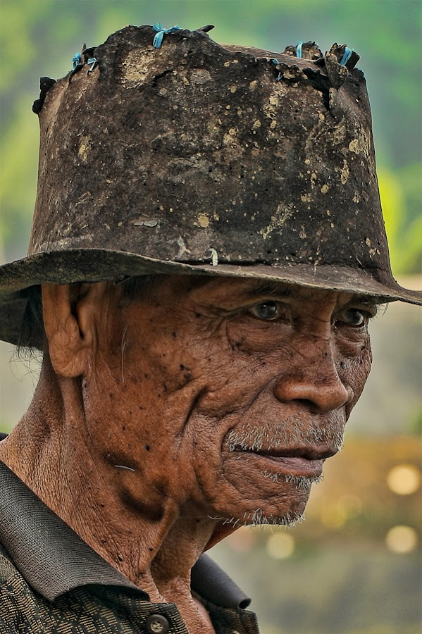 Old farmer by Chusnul Hidayat - People Portraits of Men