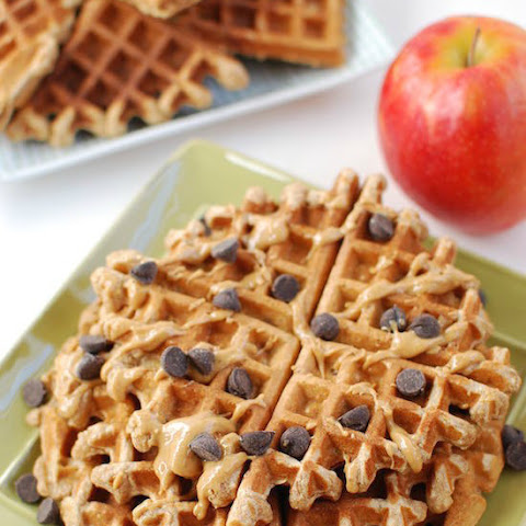 Apple Cinnamon Blender Waffles