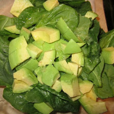 Avocado Lime Spinach Salad