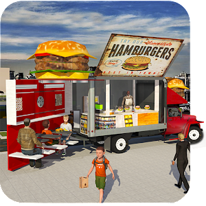 Food Truck Simulator Pizza Delivery Pickup Parking Icon