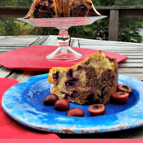 Chocolate Walnut Cherry Bundt Cake