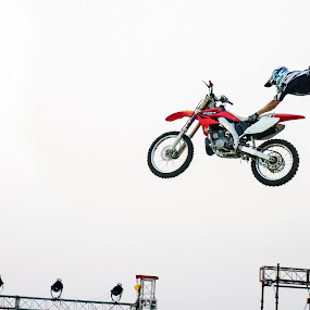Up in air by Shikhar Sharma - Sports & Fitness Motorsports ( motocycle, superman, stunts, x-games, airbound )