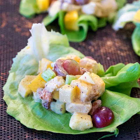 Mango Curry Chicken Salad Wraps