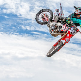Sending it by Josh Rud - Sports & Fitness Motorsports ( clouds, extreme, sky, honda, motorbike, motocross, moto, dirtbike, sports, motorcycle, mx, whip,  )
