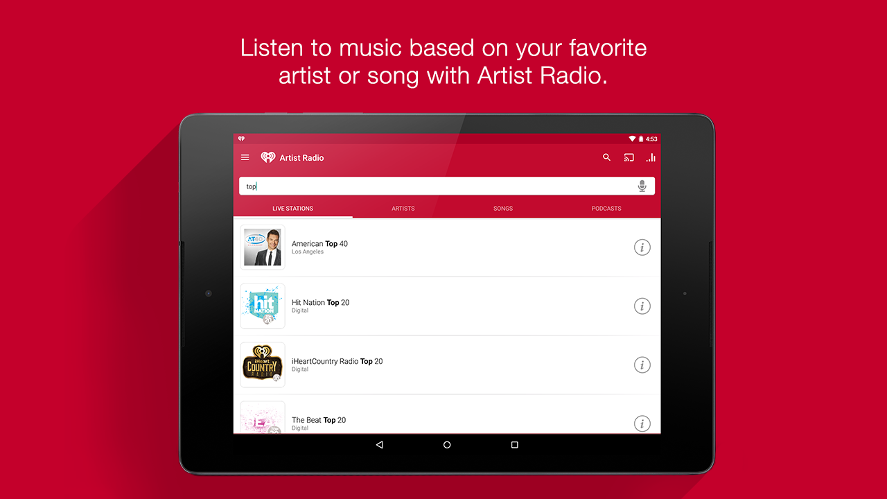 iHeartRadio Free Music & Radio Screenshot 10