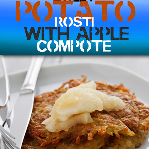 Sweet Potato Rosti with Apple Compote