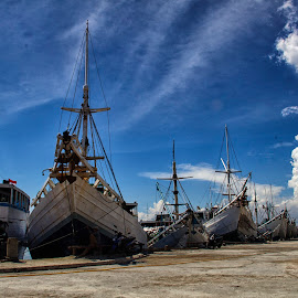 phinisi boats  by Hartono Wijaya  - Transportation Boats ( port, ethnic, makassar, bugis, boats, harbour, sea, ocean, traditional, paotere, phinisi, tribal, street photography, cultural heritage, travel photography )