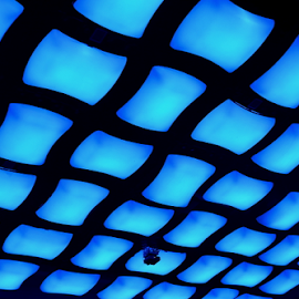 Squares by Joey Tomas - Abstract Patterns ( squares, patterns, blue, abstract lines, luminous )