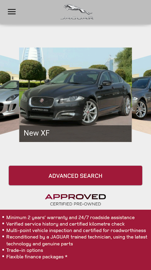 Jaguar APPROVED CARS MENA Screenshot 1