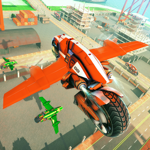 Ultimate Flying Bike Racing Stunts-City Moto Drive For PC / Windows 7/8/10 / Mac – Free Download