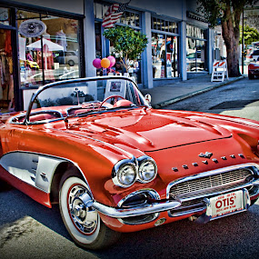 Little Red Corvette by Susan Foss - Transportation Automobiles ( red, corvette )