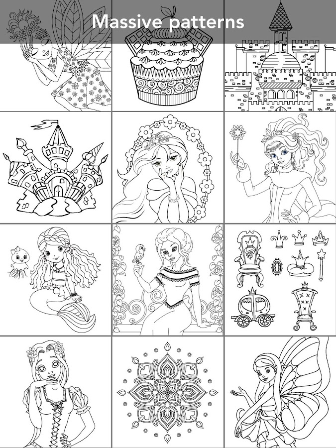 Princess coloring book Screenshot 17
