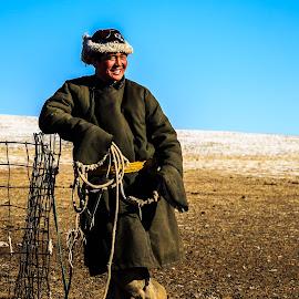 Mongolian Horseman by Mark Prusiecki - People Portraits of Men ( mongolia, travel, portrait, man, travel photography )