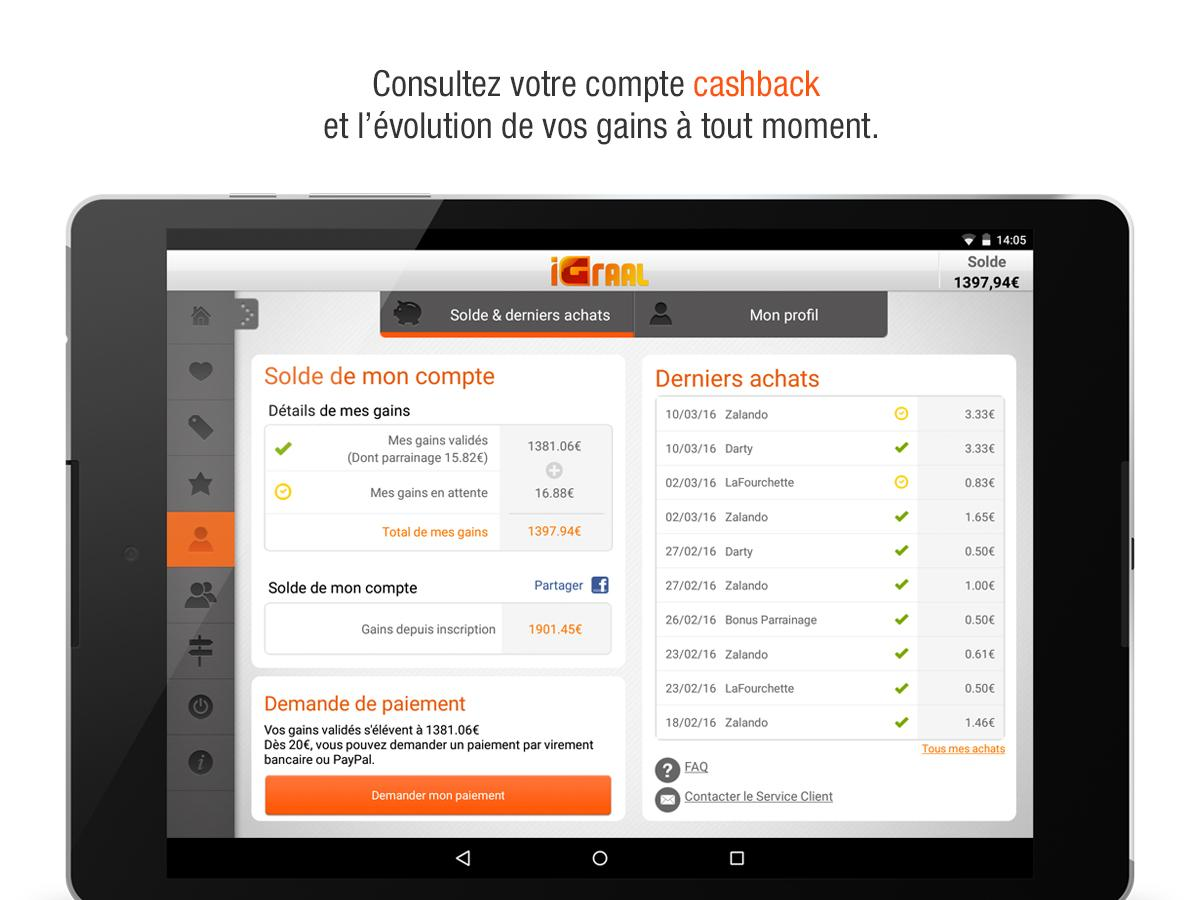 iGraal - Codes promo&Cashback Screenshot 7