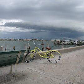 Stormy Bike Ride by Tammy Hoge - Landscapes Travel