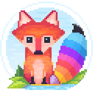 Pixel Fox - Color by Number Family Coloring Book For PC / Windows 7/8/10 / Mac – Free Download