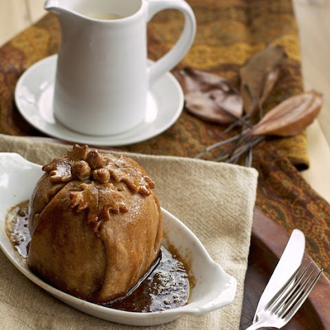 Honeycrisp Apple Dumplings with Browned Butter Brown Sugar Sauce