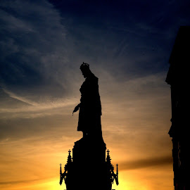 Karlův IV by Roberto Dokonal - Buildings & Architecture Statues & Monuments ( statue, shadow, sunset, praha, prague,  )