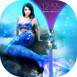 Mermaid Zipper Lock Screen