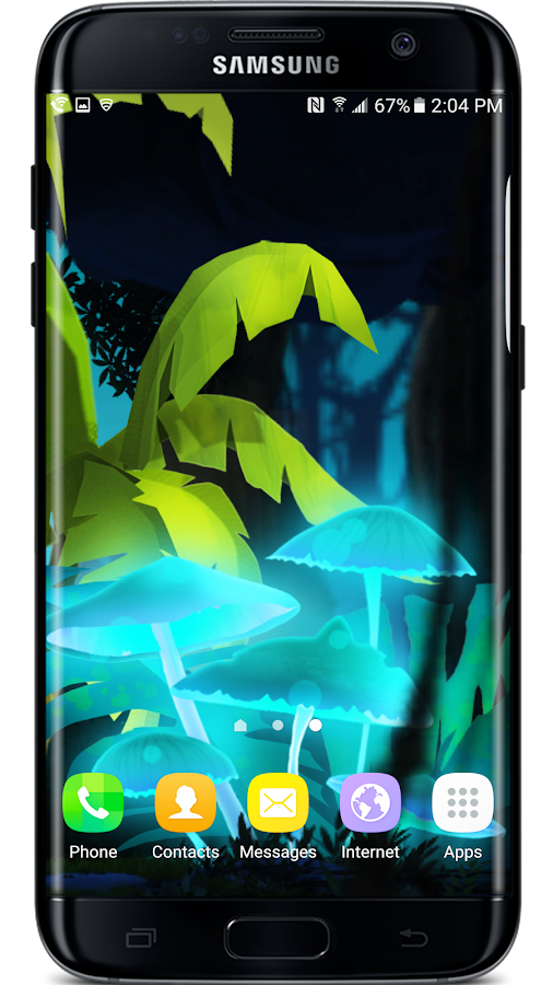 Mushroom Firefly Jungle LWP Screenshot 2